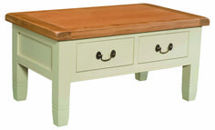 Dorchester Painted Coffee Table with Drawers The Dorchester Painted collection has a farmhouse style that will give a wonderful rustic touch to your home. Every piece of furniture has been constructed with a keen eye for detail and to a high sta http://www.MightGet.com/march-2017-2/dorchester-painted-coffee-table-with-drawers.asp