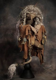 """Troll Witch by Wendy Froud, 25"""" tall (on stand), featured in """"Trolls"""" the book by Wendy Froud"""