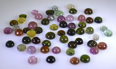Tourmaline loose gemstones 1 Pieces 5 x 5 mm Round Multi cabochon Gemstone in Jewellery & Watches, Loose Diamonds & Gemstones, Other Loose Gemstones | eBay