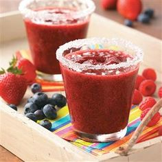 Margarita Recipes - Perfect for summer parties or Cinco de Mayo celebrations, guests will love these margarita recipes in all their fun flavors, from berry to blue lagoon.