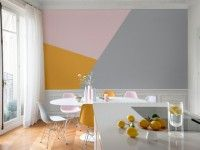 Color blocking is one great trend if you are up to achieving a modern look. Check out the color block kitchen guide and do it like a pro! Beautiful Interiors, Colorful Interiors, Block Wall, Pink Room, Apartment Interior, Apartment Ideas, Decoration, Sweet Home, Room Decor