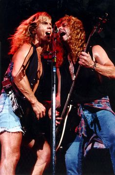 Tommy Shaw and Jack Blades with Damn Yankees