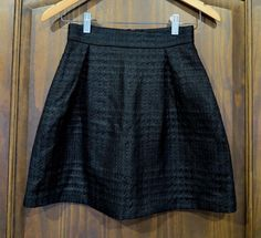 Monton black skirt S Uk 8, casual, party, school, work, romantic date, bubble #Monton #Mini