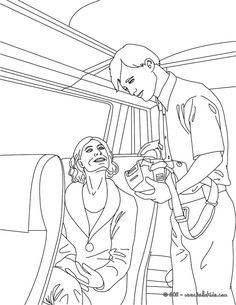 Train Inspector In Coloring Sheets Section Check It Out Station Jobs Pages