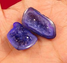 35 Cts. Natural Dyed Blue Druzy Geode Agate Lot Loose Cabochon Gemstone NI870 #Handmade