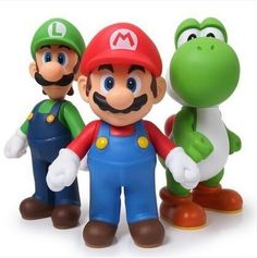 These ever popular Super Mario Brothers characters feature Mario, Luigi and Yoshi in a generous size range of 4.72 to 5 inches. Free Shipping