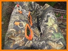 Shopping Cart cover, high chair cover, Mossy Oak camouflage camo with  blaze orange on Etsy, $56.00