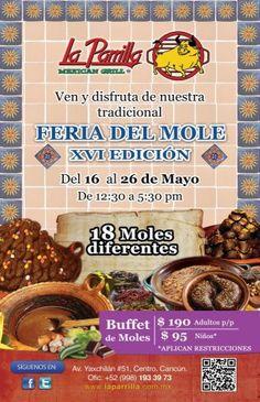 10-day mole festival at La Parrilla, Cancun!
