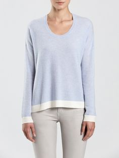 White + Warren Cashmere Paneled U Neck Cardigan Sweaters For Women, White Sweaters, Cardigans For Women, Cashmere Sweaters, Sweater Cardigan, White And Warren, Autumn Fashion, Style 2014, Pullover