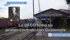 12 de enero de 1904: primer contrato de la UFCO con Guatemala – Hoy en la Historia de Guatemala Preston, Costa Rica, United Fruit Company, The Unit, Movie Posters, Movies, January 12, London Travel, Films