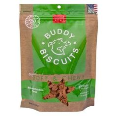 DOG TREATS - BISCUITS & COOKIE - BUDDY BISCUITS SOFT & CHEWY ROAST CHICKEN - USA - 20 OZ - WHITEBRIDGE PET BRANDS - UPC: 693804173027 - DEPT: DOG PRODUCTS