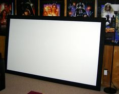 Building Your Own DIY Home Theatre Screen – Home Theater Oasis – Hometheaters Home Theater Screens, Home Cinema Projector, Home Theater Speakers, Home Theater Projectors, Home Theater Furniture, Home Theater Decor, Home Theater Seating, Home Theater Design, Home Theatre