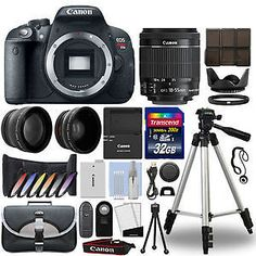 Canon T5i / 700D DSLR Camera  18-55mm IS STM 3 Lens Kit  32GB Best Value Kit