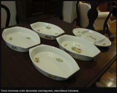 Travessas de porcelana arrematado em leilão