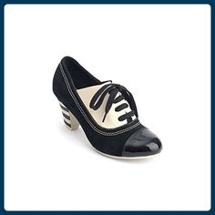 72b73452498b Cause a sensation with this retro-fabulous heeled oxford. Bold