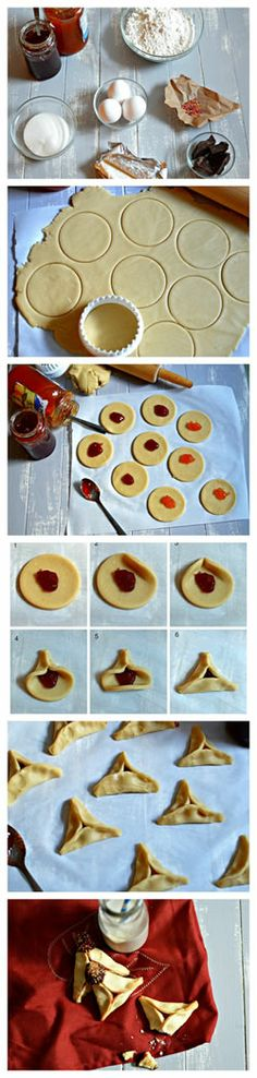 traditional hamantaschen - step by step directions