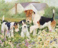 Fine Art Print Wire Fox Terrier