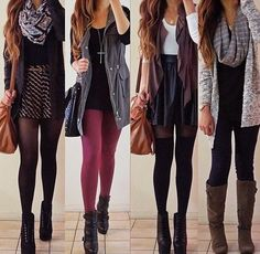 I like the layering of these outfits