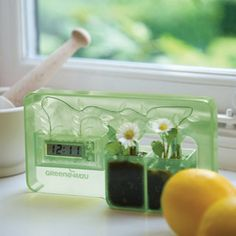 Water battery powered clock