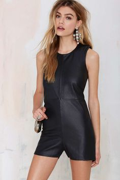 Holystone Holy Chasers Leather Shift Romper