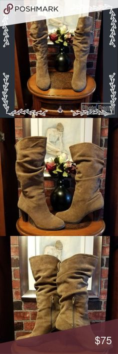 BC BG Paris Chalita Brown Suede Boots Women's Beautiful BC BG  suede boots. Good condition, slight sign of wear. pricing accordingly. 16 inches high. BC BG Paris Shoes Heeled Boots