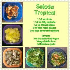Salada facil para a correria do dia a dia Abacaxi na salada??? Confie em mim!! Voce vai adorar! ;) Yucky to Yummy