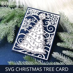 Send layers of beauty this Christmas! Create stunning greeting cards using your Cricut, Silhouette, or other digital cutting machine. Diy Christmas Cards Cricut, Christmas Vinyl, Christmas Tree Cards, Christmas Signs, Christmas Projects, Handmade Christmas, Xmas, Cricut Tutorials, Cricut Ideas