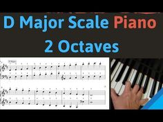 D Major Scale Piano Tutorial Slow Easy Beginner Free pdf. This D Major Scale and Arpeggio Tutorial for piano both one octave and two octaves includes fingeri. Free Piano Sheets, Easy Piano Sheet Music, Major Scale, G Major, Beginner Piano Lessons, Music Lessons, Easy Piano Pieces, Christmas Piano Music, Piano Scales