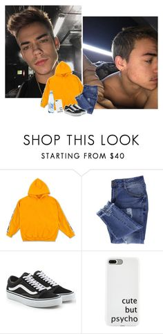 """New hair new me — Nathan"" by your-gorgeous-anons ❤ liked on Polyvore featuring Essie, Vans, men's fashion and menswear"
