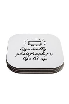 Essentially Photography Is Life Lit Up Coasters Set Of 4 - - Backdrop Outlet Photographer Gifts, Coaster Set, Light Up, Dog Tag Necklace, Backdrops, Fun, Photography, Life, Jewelry