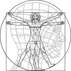 达 · 芬奇 Leonardo 人 — 图库矢量图像© pepeemilio2 #25232031