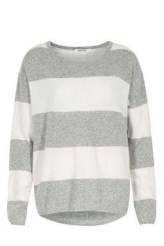 Cashmere-Pullover mit Blockstreifen