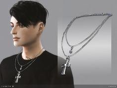 The Sims Resource: Jaqen Necklace by toksik • Sims 4 Downloads
