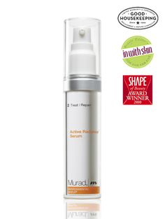 "Murad Active Radiance Serum  as ""Skincare Product of the Year"" (Danish Beauty Award 2011), ""Best Serum"" (@SHAPE magazine Beauty Awards - Doctor Brands) and Good Housekeeping Seal of Approval (@Good Housekeeping Magazine 2011)"