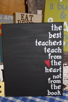 Teachers Canvas Gift by TwoCraftyTeachers on Etsy,