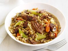 Slow-Cooker Beef and Barley Recipe : Food Network Kitchen : Food Network - FoodNetwork.com