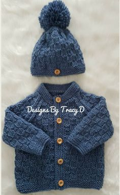 Thomas Baby Cardigan Hat Booties Knitting Pattern To Fit - ! thomas baby cardigan hat booties knitting pattern to fit - Baby Boy Cardigan, Cardigan Bebe, Knitted Baby Cardigan, Knit Baby Sweaters, Knitted Baby Clothes, Baby Cardigan Knitting Pattern Free, Knitting Patterns Boys, Baby Sweater Patterns, Knitting Tutorials