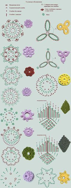 钩针 花样 花样 (ENGLISH Crochet pattern pattern)
