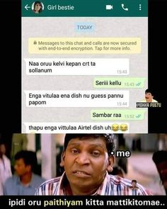 60+ Best Tamil comedy memes images in 2020 | tamil comedy ...
