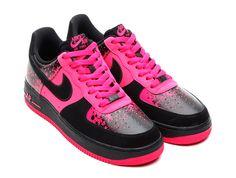 Nike Air Force 1 Vivid Pink/Black