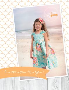 Emory Dress PDF sewing pattern available at Fairytale Frocks & Lollipops.  #sewing #PDFpattern #boutiquekidsclothes