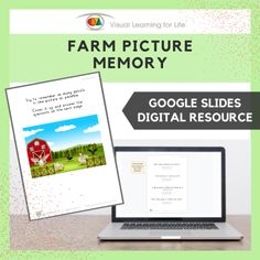 This digitally interactive resource is designed for use with Google Slides. This resource contains 10 slides in total.The student must remember the details in the picture on the first page, in order to answer the questions on the second page when the picture is no longer visible.