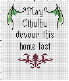 May Cthulhu Devour this Home Last Cross by SnarkyArtCompany