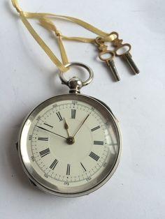 Swiss pocket watch silver 1880