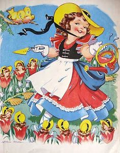 Dianne Zweig - Kitsch 'n Stuff: Decorating With Pictures From A Vintage Nursery Rhyme Book Vintage Children's Books, Vintage Ephemera, Vintage Cards, Vintage Postcards, Retro Vintage, Kitsch, Images Vintage, Retro Baby, Comic