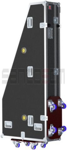 Flightcase, Cravo Italiano W1850xD800xH230mm, rodas | Santosom