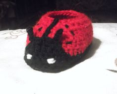 CROCHET PATTERN Booties Ladybug, 4 sizes newborn to 12 month