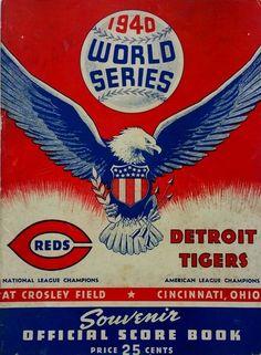 1940 World Series Program Detroit Tigers vs Cincinnati Reds
