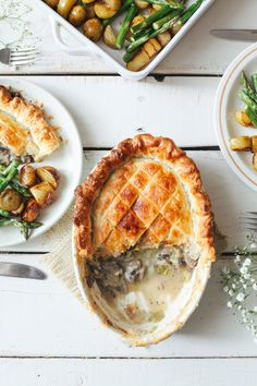 Creamy Leek & Mushroom Pie (Vegan) - Wallflower Kitchen
