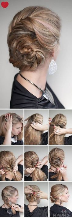 Prom Party Hairstyle-Erin you should do this with the top half of your hair and leave the bottom half long